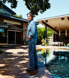 On location portrait of architect Dallas Texas