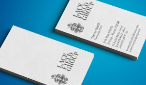 Consulting company business card design