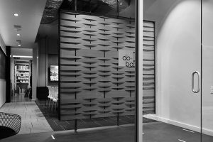 black and white photo of office visual branding Dallas Texas